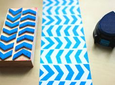 Create your own stamps in Crafts for home stationery and paper for birthdays, anniversaries or dinners