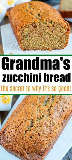 Zucchini Bread Recipes, Healthy Zucchini Bread, Zucchini Banana Bread, Zucchini Boats, Zucchini Fritters, Zucchini Noodles, Breakfast Recipes, Dessert Recipes, Pastries