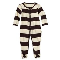 Amazon.com: Kee-Ka Small Change Organics Long Sleeve Romper - Vanilla / Chocolate- 0-3m: Infant And Toddler Rompers: Clothing