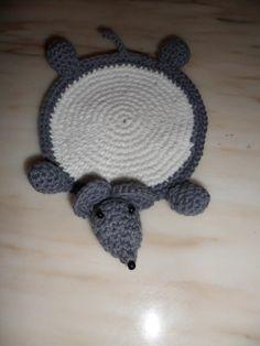 crocheted animal coasters | Haak Maar Aan: Gehaakte Onderzetters - Coasters in crochet