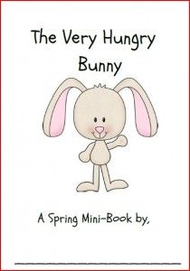 Very Hungry Bunny printable book