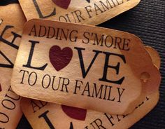 Would Match my wedding favors of Sending S'more Love---Baby Shower Favors Adding S'More Love to our Family 50 SMALL 2 by TiaZoeyTeaStained