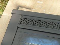 Fireplace Screen Makeover using Rustoleum high heat spray paint
