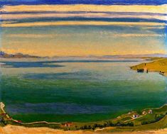 'Lac Léman vu de Chexbres' de Ferdinand Hodler (1853-1918, Switzerland)
