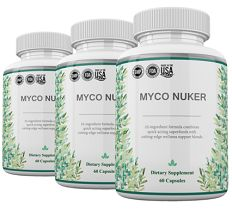 The Organic Fungus Myco Nuker is a natural supplement that was designed by Dr. Ishiguro. This post at DietTalk explains more about this supplement and the wy it works - http://www.diettalk.com/organic-fungus-myco-nuker-dr-ishiguro-review/