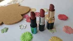 NUDE Lipsticks for medium/olive/indian skin tones. MAC Mystical and Fanfare and Bobbi Brown in Blondie Pink
