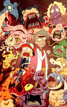 Rick and morty do pokemon Futurama, Rick And Morty Pokemon, Pokemon G, Pikachu, Rick And Morty Crossover, Rick Und Morty, Rick And Morty Poster, Regular Show, Geek Art