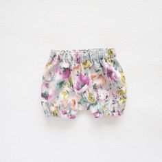Watercolor Baby Bloomers Floral Bloomers Toddler Girls