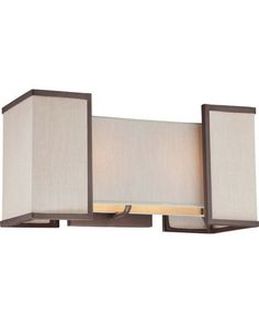 Nuvo Lighting 60-4872 Labyrinth Collection Two Light Bath Vanity Wall Sconce in Henna Bronze Finish