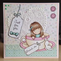 Little Lucy's Handmade Cards: Anyone for tea? (Gorjuss Sweet Tea)