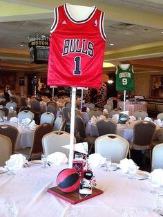 Basketball theme BarMitzvah - Gold #EventPlanner #PhotoGallery - Bar Bat Mitzvah, Wedding, Corporate, & Simcha Planning in MA RI