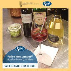 L'Hotel Sud Ovest di Sestriere ha pensato ad un aperitivo a base di vino locale e Vermouth Cinzano!  Ecco la ricetta di Hiro Mon Amour:   una zolletta di zucchero all'arquebuse. 20 cl di Pinerolese Barbera DOC Foravia  20 cl di Vermouth Cinzano 1757  Colmare con Spumante Extra Brut Eli e decorare con foglia di menta Alpina.  Bevi responsabilmente, scegli la qualità!
