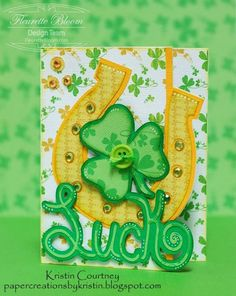 Paper Creations by Kristin: LUCK Horseshoe Card