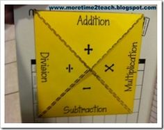 Here's a notebook foldable where students can identify important words for problem solving using different operations.