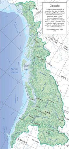 Nice colored map of Cascadia