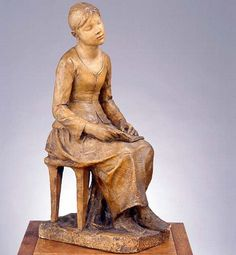 """""""Girl reading"""" - Plaster sculpture by Alfred Boucher (for Camille Claudel)"""