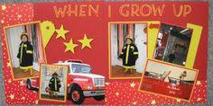 scrapbook layouts firetrucks - Google Search