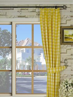 Hudson Yarn Dyed Big Plaid Blackout Double Pinch Pleat Curtains ...