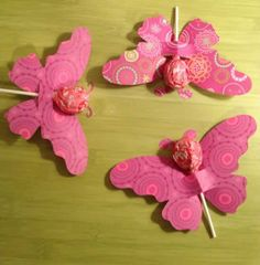 Valentines made with die cuts --- & tootsie roll pops! Valentine Crafts, Be My Valentine, Holiday Crafts, Kids Crafts, Butterfly Birthday Party, Candy Bouquet, Birthday Decorations, Craft Gifts, First Birthdays