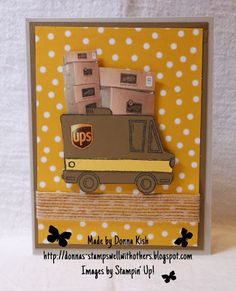 Welcome to Stamps Well With Others!  Check my blog for full details on this card.  This Tasty Truck is so versatile for so many things.  I hope it stays around a while!