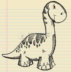 The gallery for --> Cute Dinosaur Doodles Dinosaur Sketch, Dinosaur Drawing, Cartoon Dinosaur, Dinosaur Art, Cute Dinosaur, Cool Art Drawings, Doodle Drawings, Doodle Art, Animal Drawings