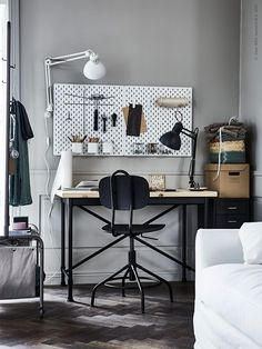 Ikea storage to the rescue of small rooms with storage issues. Home Office Storage, Home Office Design, Office Decor, Office Ideas, Ikea Home Office, Office Spaces, Ikea Workspace, Ikea Storage, Paper Storage