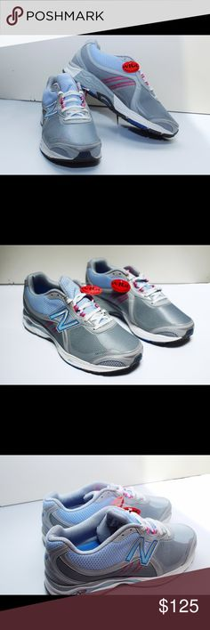Womens New Balance Walking Shoes These are brand new New Balance walking shoes. They are grey, blue, and pink. They have extra comfort. They are extra wide. New Balance Shoes Sneakers