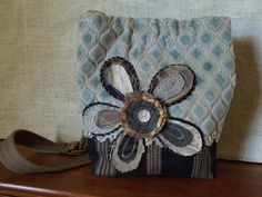 CROSSBODY+HOBO+BAG++Recycled+Upholstery+Fabric+by+WhimsyEyeDesigns,+$58.00