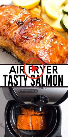 BEST Air Fryer Salmon - quick, easy, and delicious!You can find Air fryer salmon recipes and more on our website.BEST Air Fryer Salmon - quick, easy, and delicious! Salmon In Air Fryer, Air Fryer Recipes Salmon, Air Fryer Recipes Vegetarian, Air Fryer Recipes Low Carb, Air Fryer Recipes Breakfast, Air Fryer Dinner Recipes, Healthy Recipes, Delicious Recipes, Eat Healthy