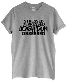 Stressed Depressed Josh Dun Obsessed by RockPaperSistersTees