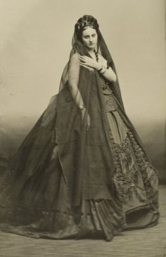 Virginia Oldoini, Countess de Castiglione (1837-1899), better known as La Castiglione, was an Italian courtesan who achieved notoriety as a mistress of Emperor Napoleon III of France. She was also a significant figure in the early history of photography as a model and collaborator of photographer Pierre-Louis Pierson, 1860s
