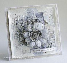 Art_Dorota (Dorota (Kopeć) Kotowicz: Mediowe szaleństwo i kolejne warsztaty. Card Making Inspiration, Making Ideas, Mixed Media Cards, Shabby Chic Cards, Beautiful Handmade Cards, Pretty Cards, Card Maker, Card Tags, Paper Cards