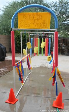 Kiddie Car Wash Sprinkler... a little complicated, might have to hire this out ... ha ha