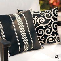 Black & White Outdoor Pillows