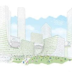 A Campus Level rendering of the Miami Innovation District