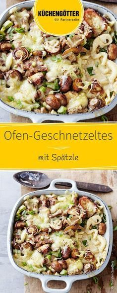Rezept für Ofengeschnetzeltes mit Spätzle You are in the right place about World Cuisine restaurant Here we offer you the most beautiful pictures about the World Cuisine recipes you are looking for. Noodle Recipes, Meat Recipes, Mexican Food Recipes, Healthy Recipes, Ethnic Recipes, Healthy Nutrition, Spaetzle Recipe, Vegetable Drinks, Cauliflower Recipes