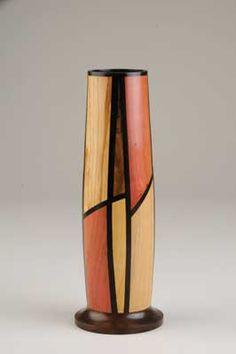 Mixed Exotic Wood Vase - Dennis Keeling