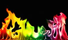 How to Make a Rainbow of Colored Flames