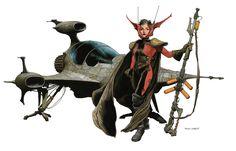 SPACESHIP ROCKET, Spacegirl by Travis Charest