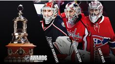VEZINA TROPHY: Vezina Trophy finalists unveiled Sergei Bobrovsky of Blue Jackets, Braden Holtby of Capitals, Carey Price of Canadiens in running for award given to NHL's best goalie - April 2017 Montreal Canadiens, Braden Holtby, Nhl Awards, Stanley Cup Playoffs, Nhl Players, Games To Play, North America, Hockey, Marvel