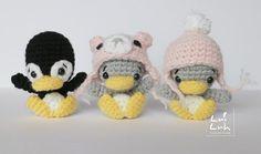 Игрушки амигуруми крючком вязаный пингвин схема