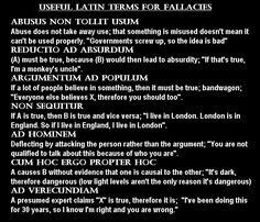 For when you want to be a smart arse whilst pointing out fallacies :p
