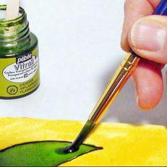 Faux vitrail sur toile mes cr ations peinture et d co for Faux vitrail sur miroir