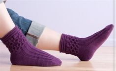 Honeycomb Socks - Media - Knitting Daily free pattern