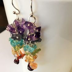 A personal favorite from my Etsy shop https://www.etsy.com/ca/listing/534908995/rainbow-gemstone-beaded-cluster-drop