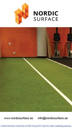 Artificial turf gives a natural and environment friendly feeling while doing exercise. It has become a necessity nowadays at gyms. For more information about this product, just click on the following link: http://www.nordicsurface.se/