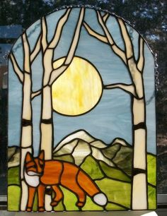 big buck deer | Stained glass -