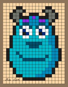 Sulley Perler Bead Pattern                                                                                                                                                                                 Plus