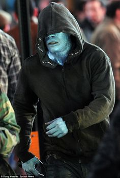 amazing spiderman 2 movie on set photos   First Look At Jamie Foxx As The Amazing Spider-Man 2 Villain Electro ...