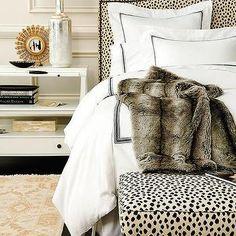 Dalmatian Print Bench, Transitional, Bedroom, Ballard Designs